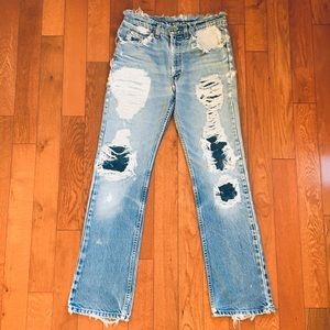 Vintage Levi's Distressed High Rise Waist Wedgie